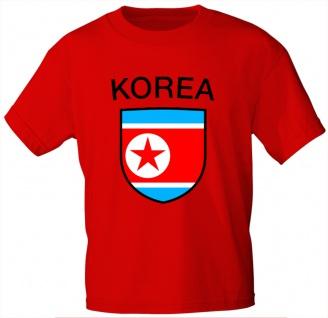 Kinder T-Shirt mit Print - Korea - 76122 - rot 110/116