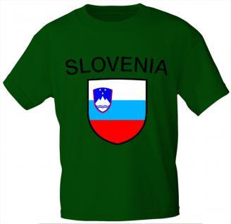 Kinder T-Shirt mit Print - Slowenia - Slowenien - 76152 - grün - Gr. 110/116