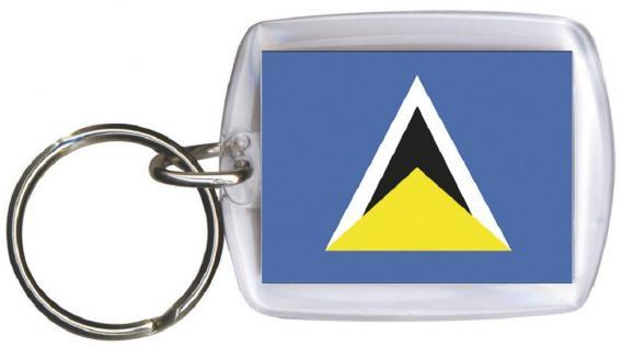 Schlüsselanhänger Anhänger - ST LUCIA - Gr. ca. 4x5cm - 81157 - Keyholder WM Länder