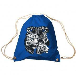 Sporttasche Turnbeutel Trend-Bag Print Weisse Tiger Raubtiere - TB10203 Royal