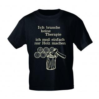 T-Shirt mit Print Ich brauche keine Therapie.... 09441 Gr. schwarz / 3XL