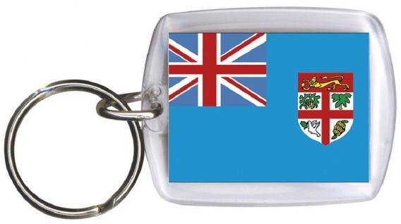 Schlüsselanhänger - FIDJI - Gr. ca. 4x5cm - 81049 - WM Länder
