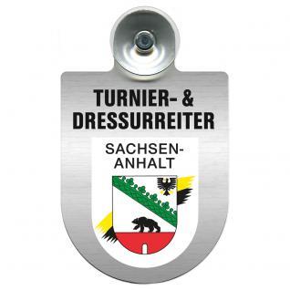 Einsatzschild Windschutzscheibe incl. Saugnapf - Turnier- und Dressurreiter im Einsatz - 309471-11 Region Sachsen-Anhalt