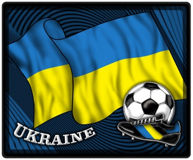Mousepad Mauspad mit Motiv - Ukraine Fahne Fußball Fußballschuhe - 83177 - Gr. ca. 24 x 20 cm
