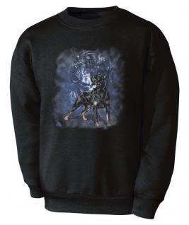Sweatshirt mit Aufdruck - Rottweiler - 10107 schwarz ©Kollektion Christina Bötzel Gr. 2XL