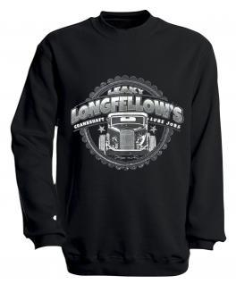 Sweatshirt mit Print - Longfellows - versch. farben zur Wahl - S10281 - Gr. schwarz / XL