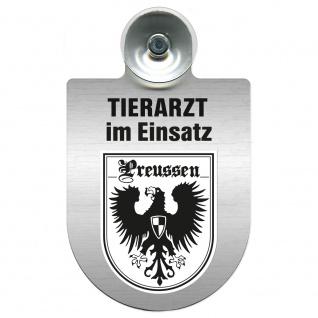 Einsatzschild Windschutzscheibe incl. Saugnapf - Tierarzt im Einsatz - 309390 Region Preussen