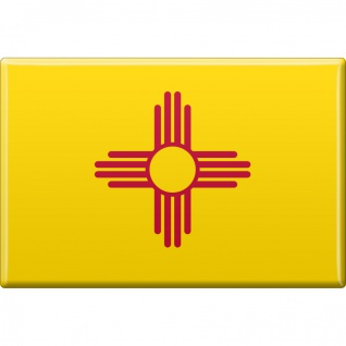 Magnet - US Bundesstaat - New Mexico - Gr. ca. 8 x 5, 5 cm - 37131/1 - Küchenmagnet