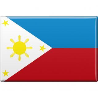 Kühlschrankmagnet - Länderflagge Philippinen - Gr.ca. 8x5, 5 cm - 37807 - Magnet