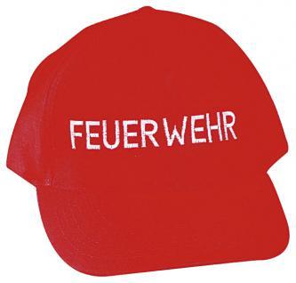 Basecap - Cap mit Einstickung - Feuerwehr - 168299 rot - Baumwollcap Baseballcap Schirmmütze Hut