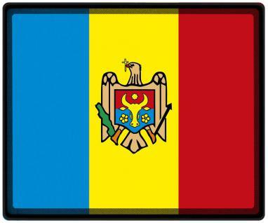 Mousepad Mauspad mit Motiv - Moldawien Fahne Fußball Fußballschuhe - 82109 - Gr. ca. 24 x 20 cm