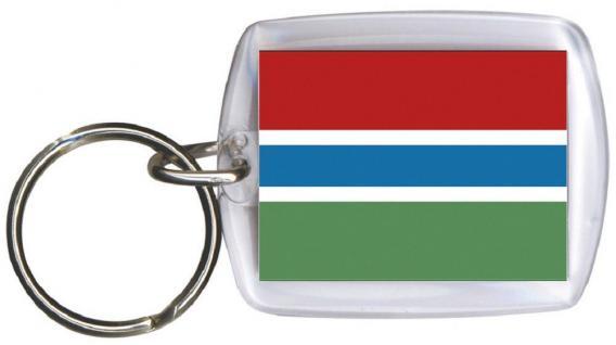 Schlüsselanhänger Anhänger - GAMBIA - Gr. ca. 4x5cm - 81053 - WM-Länder