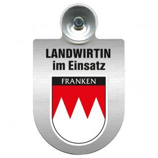 Einsatzschild Windschutzscheibe incl. Saugnapf - Landwirtin im Einsatz - 309738-18 Region Franken