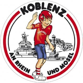 PVC-Aufkleber - Koblenz an Rhein und Mosel - Gr. ca. 10 cm - 301569/1