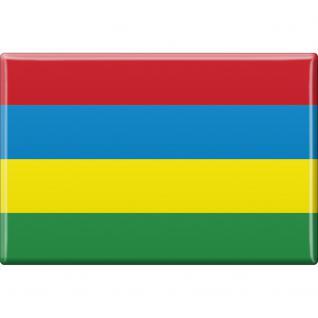 Kühlschrankmagnet - Länderflagge Mauritius - Gr.ca. 8x5, 5 cm - 38082 - Magnet