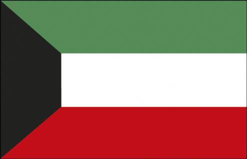 Stockländerfahne - Kuwait - Gr. ca. 40x30cm - 77089 - Schwenkflagge