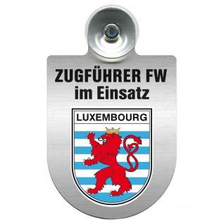 Einsatzschild Windschutzscheibe incl. Saugnapf - Zugführer Feuerwehr im Einsatz - 309749 - Region Luxembourg