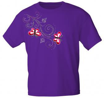 (12853) T- Shirt mit Glitzersteinen Gr. S - XXL in 16 Farben S / lila