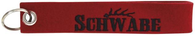 Filz-Schlüsselanhänger mit Stick Schwabe Gr. ca. 17x3cm 14180 rot