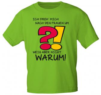 Herren-T-Shirt mit Aufdruck - Ich dreh mich nach den Frauen um... - 12691 - Gr. M