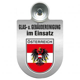 Einsatzschild für Windschutzscheibe incl. Saugnapf - Glas- u. Gebäudereinigung im Einsatz - 309399-20 Region Österreich