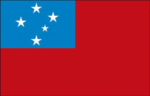 Länderfahne - Samoa - Gr. ca. 40x30cm - 77141 - Flagge mit Holzstock, Stockländerfahne