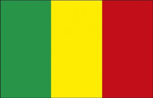 Stockländerfahne - Mali - Gr. ca. 40x30cm - 77101 - Länderflagge Fahne