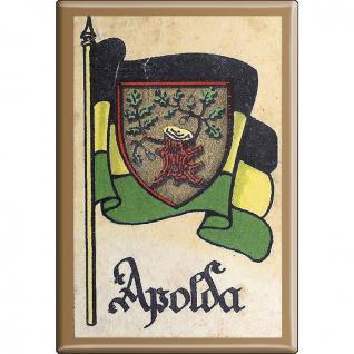 Küchenmagnet - Wappen Apolda - Gr. ca. 8 x 5, 5 cm - 37504 - Magnet Kühlschrankmagnet