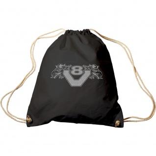 Trend-Bag mit Aufdruck - V8 - 65112 - Turnbeutel Sporttasche Rucksack