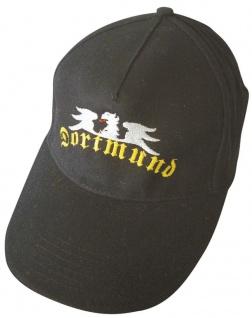 Baseballcap mit Einstickung - Dortmund Adler - 68888 schwarz