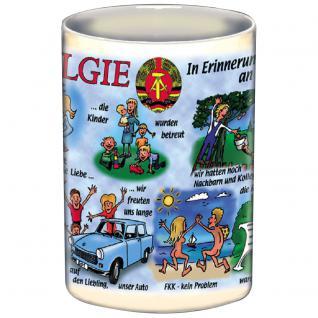 Tasse Kaffeebecher mit Print Ostalgie DDR weiß 57244