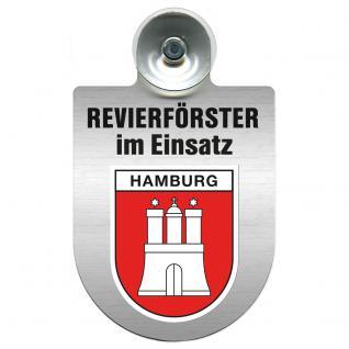 Einsatzschild Windschutzscheibe incl. Saugnapf - Revierförster im Einsatz - 309376-15 - Region Hamburg