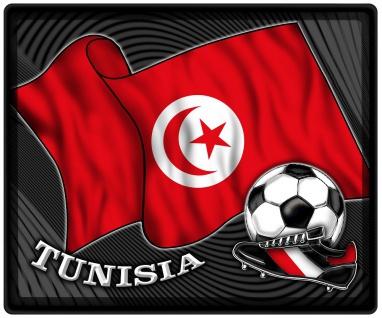 Mousepad Mauspad mit Motiv - Tunesien Fahne Fußball Fußballschuhe - 83173 - Gr. ca. 24 x 20 cm