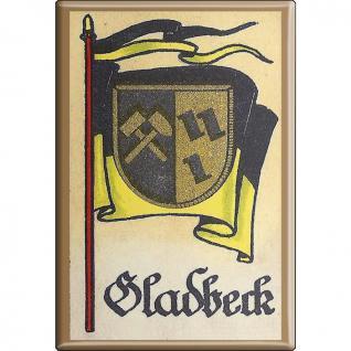 Küchenmagnet - Wappen Gladbeck - Gr. ca. 8 x 5, 5 cm - 37525 - Magnet Kühlschrankmagnet