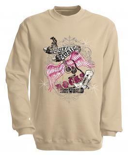 Sweatshirt mit Print - Country Music - S10247 - versch. farben zur Wahl - Gr. beige / XXL
