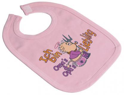 Baby-Lätzchen - Sabbertuch mit Druckmotiv - Ich bin Omas und Opas Liebling - 08404 rosa