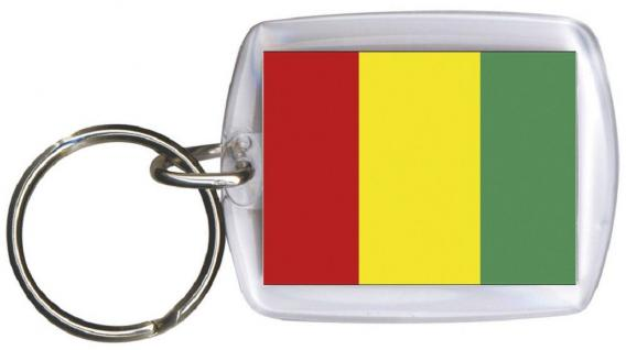 Schlüsselanhänger Anhänger - GUINEA - Gr. ca. 4x5cm - 81060 - WM-Länder