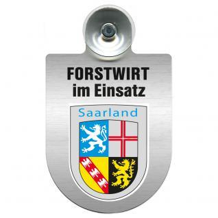 Einsatzschild für Windschutzscheibe incl. Saugnapf - Forstwirt im Einsatz - 309468-10 Region Saarland