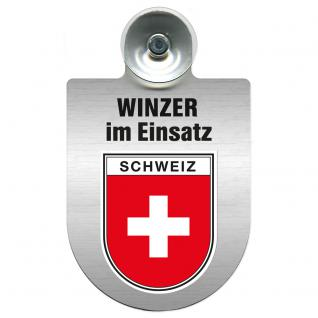 Einsatzschild Windschutzscheibe incl. Saugnapf - Winzer im Einsatz - 309466-22 Region Schweiz