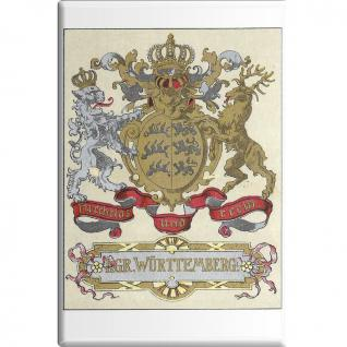 Kühlschrankmagnet - Königreich Württemberg - Gr. ca. 8 x 5, 5 cm - 38725 - Küchenmagnet