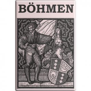 Kühlschrankmagnet - Böhmen - Gr. ca. 8 x 5, 5 cm - 38101 - Küchenmagnet