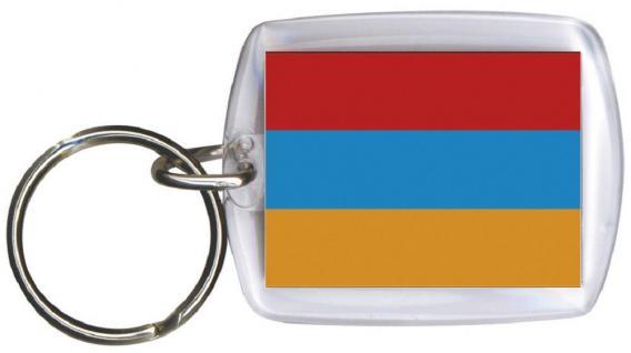 Schlüsselanhänger - ARMENIEN - Gr. ca. 4x5cm - 81015 - WM Länder