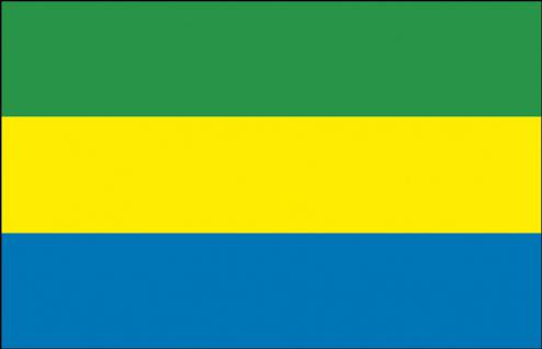 Auto-Länderflagge - Gabun - Gr. ca. 40x30cm - 78052 - Flagge mit Klemmstab - Fahne Autoländerfahne
