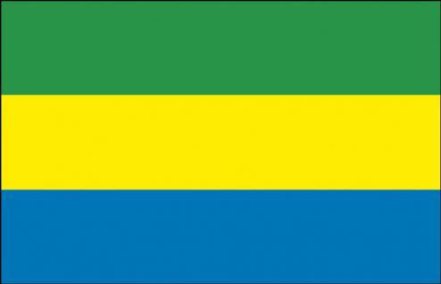 Flagge - Gabun - Gr. ca. 40x30cm - 77052 - Schwenkflagge Stockländerfahne