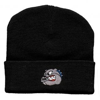 Hip-Hop Mütze Bulldoge 56528 schwarz
