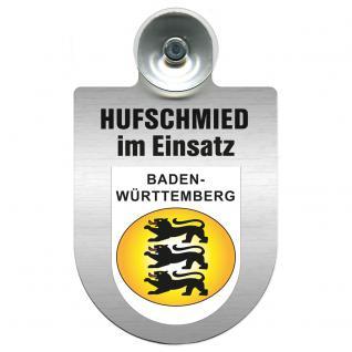 Einsatzschild Windschutzscheibe incl. Saugnapf - Hufschmied im Einsatz - 309391-1- Region Baden-Württemberg