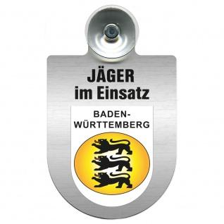 Einsatzschild mit Saugnapf Jäger im Einsatz 393821 Region Baden-Württemberg