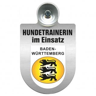 Einsatzschild mit Saugnapf Hundetrainerin im Einsatz 309379/1 Region Baden-Württemberg