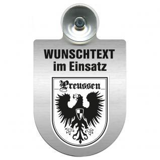 Einsatzschild für Windschutzscheibe incl. Saugnapf - Wunschtext...Eigener Text - Wappen nach Wahl - 309470 Region Preussen - Vorschau