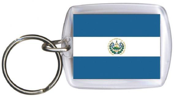 Schlüsselanhänger - EL SALVADOR - Gr. ca. 4x5cm - 81045 - WM Länder